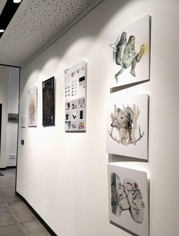 obras de la exposición en Espacio Arte de La Fundación San Prudencio