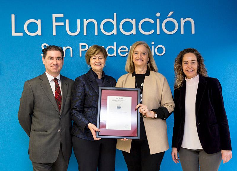 Certificación Compliance de Aenor a La Fundación San Prudencio siendo 1ª certificación Compliance en Euskadi