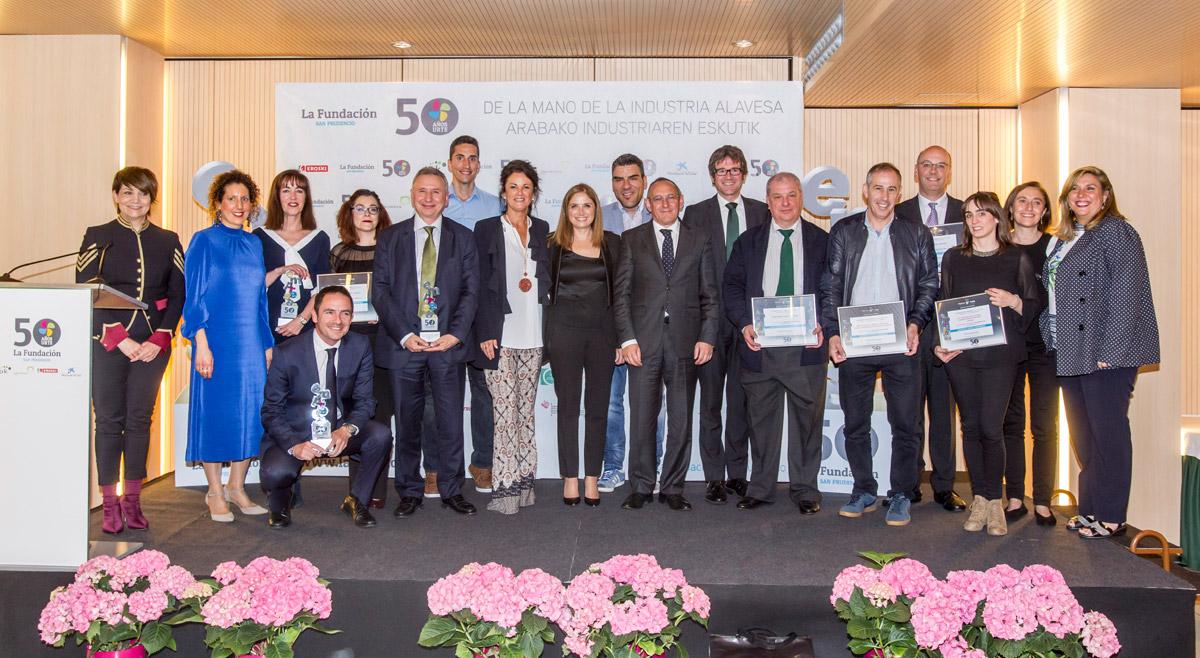 premiados buenas prácticas empresariales 2018 La Fundación San Prudencio