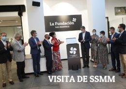 visita de los Reyes a La Fundación San Prudencio
