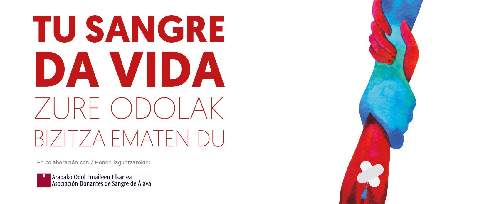 campaña donación sangre Vitoria con La Fundación San Prudencio