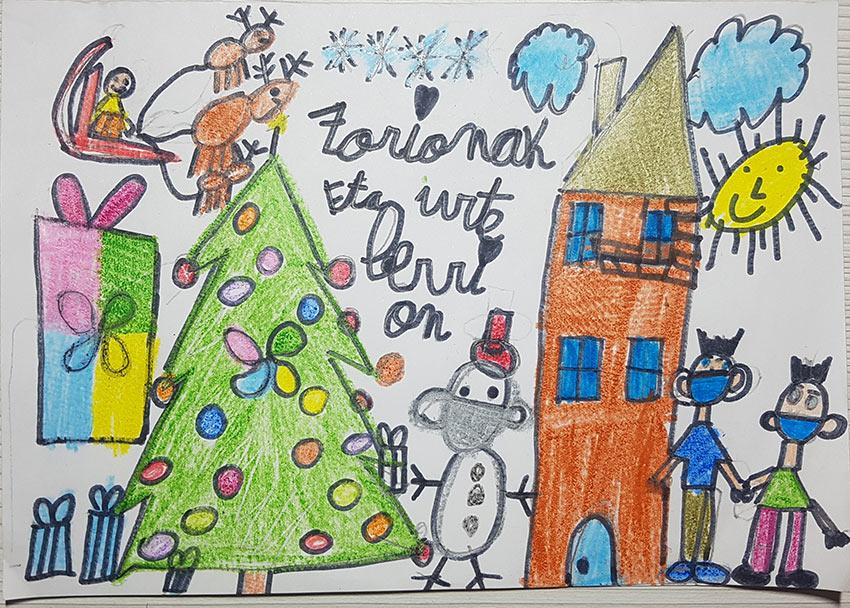 ganador V Concurso postales navideñas La Fundación 2020 Asier Elvira